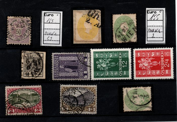 Austria - Lot of several stamps