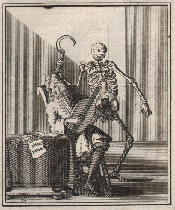 Dutch Engraver - Dance of Death - Death and the Lute Player