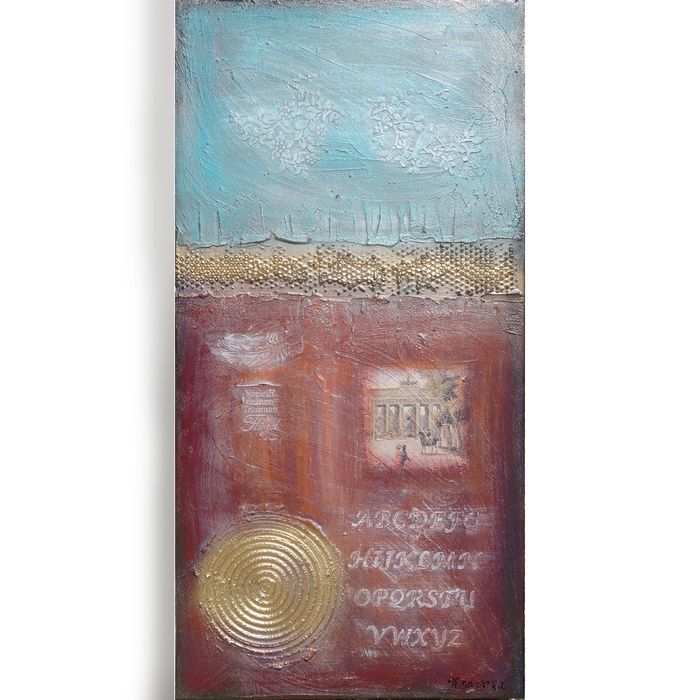 Ksavera - Berlin Abstract A522 - luxurious massive deep canvas 4cm