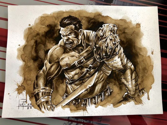 Original Coffee Painting - HULK (Planet Hulk) - 原創藝術 (2020)