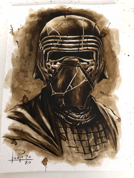 Original Coffee Painting - KYLO REN - Original (2020)