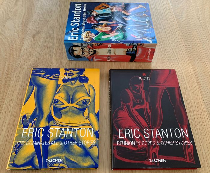 Eric Stanton - She dominates all icons + Reunion in ropes + The Dominant Wives - First edition - (1998/2001)