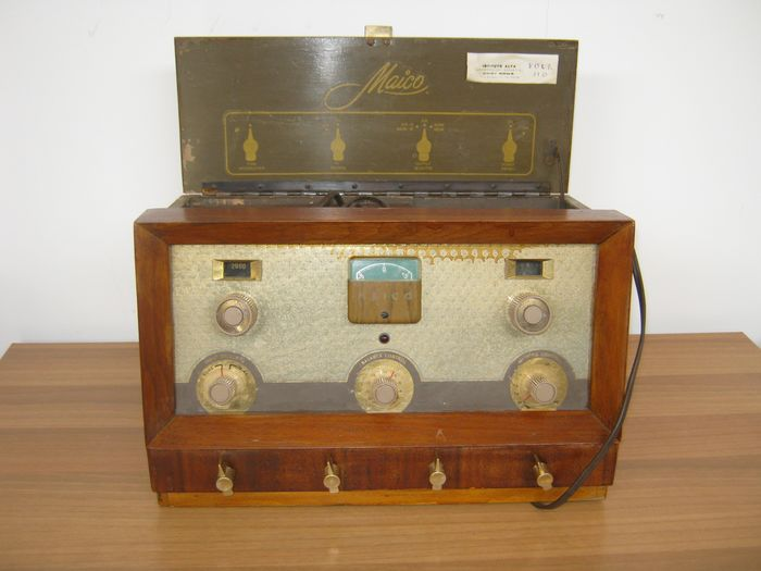 audiometric device with Maico accessories (1) - Bakelite, Brass, Copper, Cotton, Wood