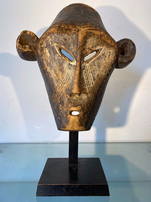 Mask (1) - Wood, pigments - Boa - Belgian Congo