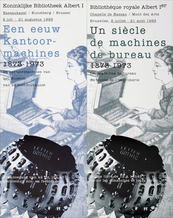 Two Posters: 'A century of office machines 1875-1973' and IBM booklet - Paper