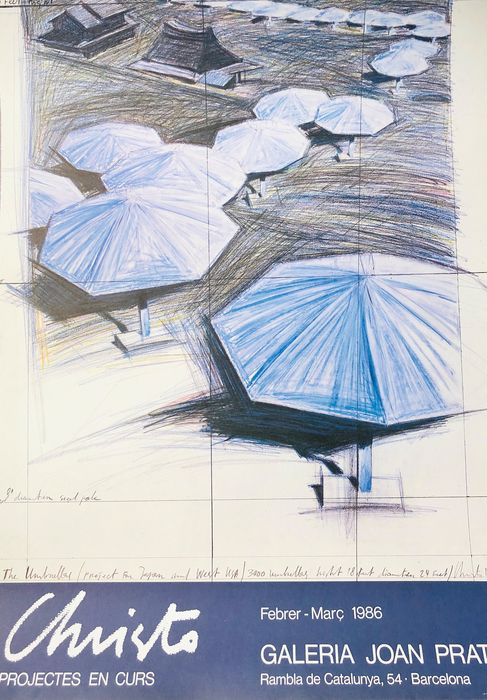 Christo - The Umbrellas (project fur Japan and West USA) - 1986 - 1980-tallet
