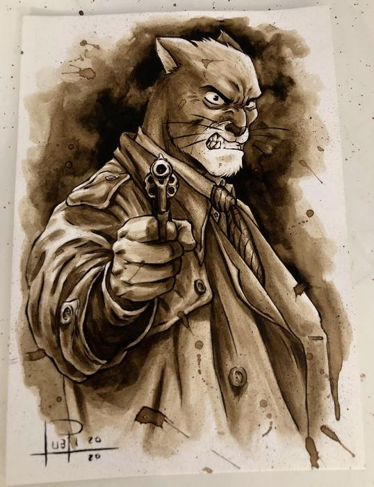 Original Coffee Painting - BLACKSAD - Αρχικό (2020)