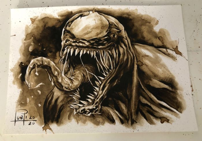 Original Coffee Painting - VENOM - Original (2020)