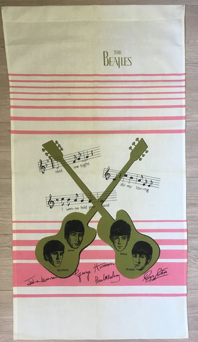 Beatles - Two original frontpieces of a Beatles dress from 1964 - 1964/1964