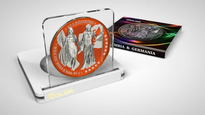 Germany. 5 Mark 2019 - Germania -  The Allegories i-Color Edition - Sinopia - 1 Oz