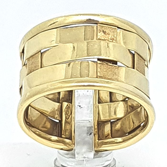 18 kt. Yellow gold - Ring adaptable to size