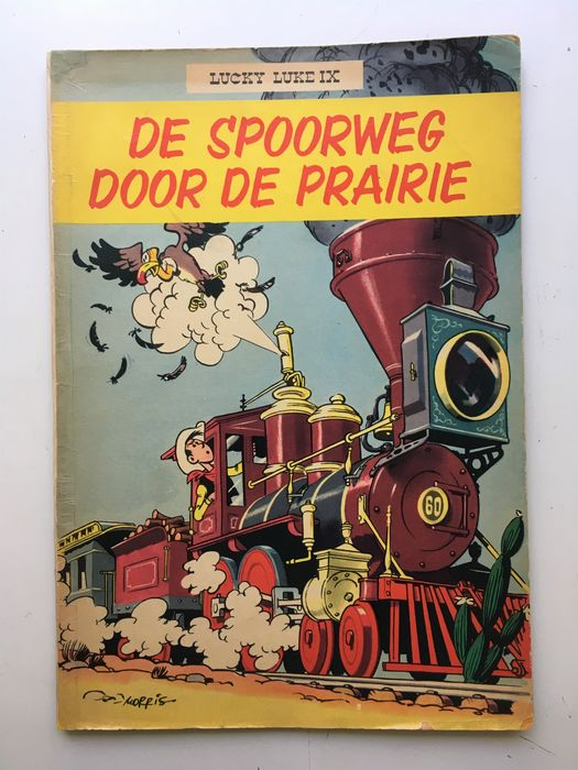 Lucky Luke - De spoorweg door de prairie - Softcover - First edition - (1957)