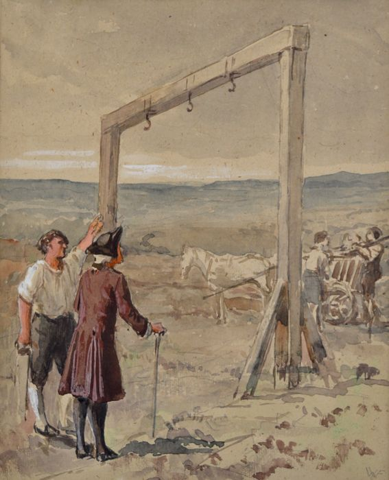 William Frederick Yeames. R.A. (1835-1918) - The last of the gallows