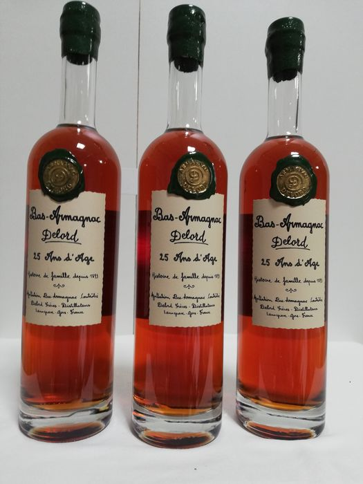 Delord 25 years old - 70cl - 3 bottles