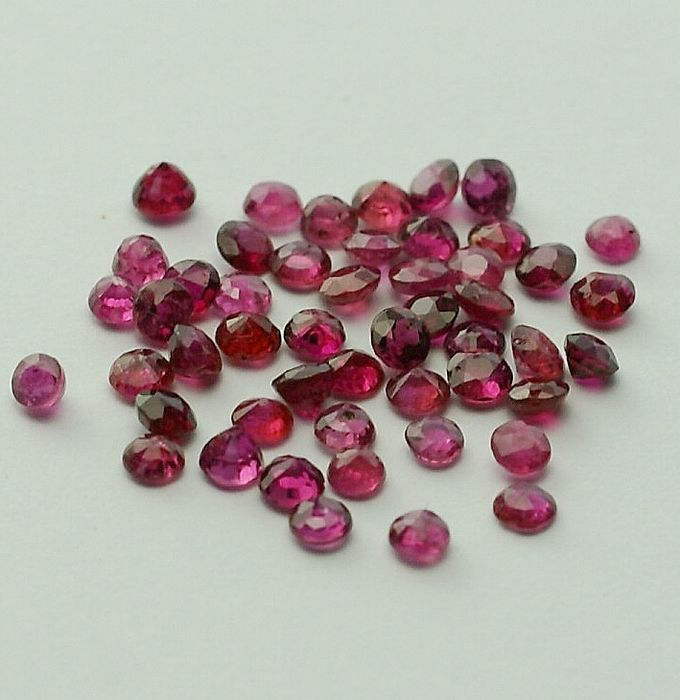 50 pcs Pink, Red Ruby - 5.10 ct