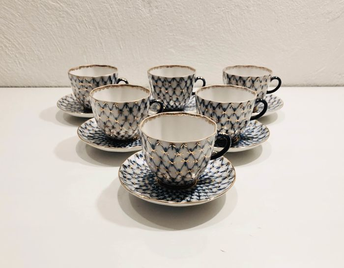 Anna Yatskevich - Lomonosov Imperial Porcelain Factory - Coffee set for 6 (12) - Porcelain