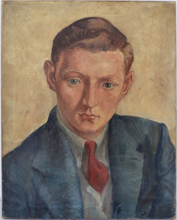 English school (20th century) - A portrait of a young man