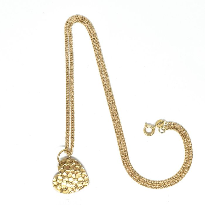 18 kt. Yellow gold - Necklace, Pendant Heart