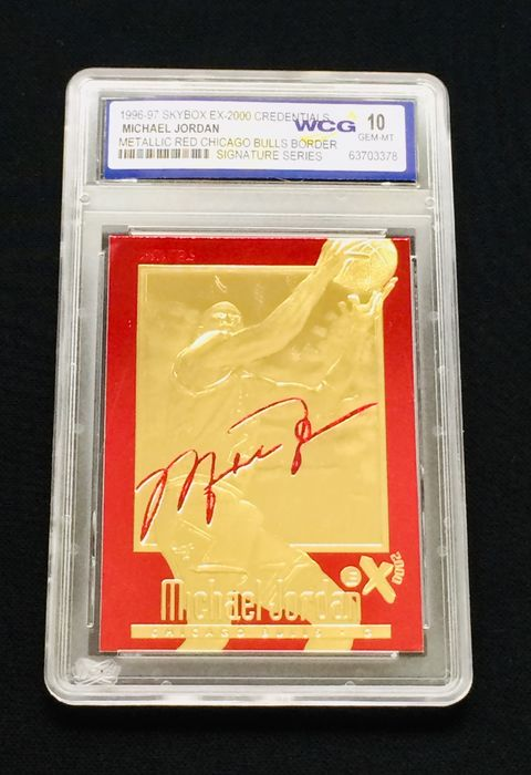 Michael Jordan - NBA Basketball - Gold Card ( 23K ) - Grade 10