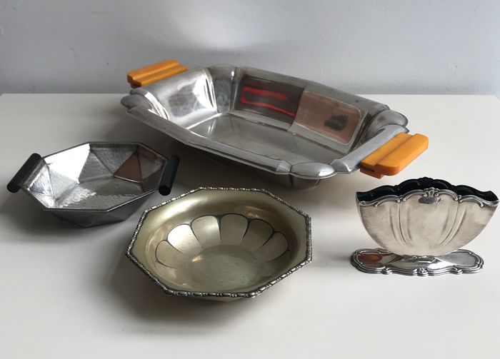 Wellner Sohne en Mussbach - Bowls, bowls and holders (6) - Art Deco - Silverplate