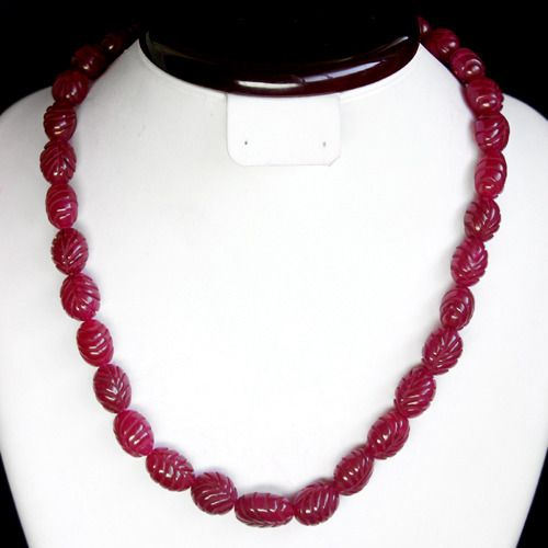Adjustable necklace of polished Ruby beads Polished - 127 g - (1)