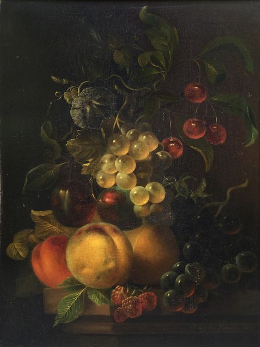 Jan van der Waarden (1811 - 1872) - Fruit still life