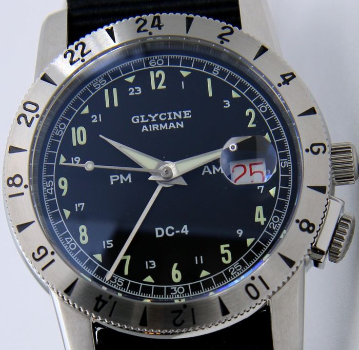 Glycine - - Airman DC-4 GMT Automatic 200M  - SWISS MADE - - GL0071 - Men - 2011-present