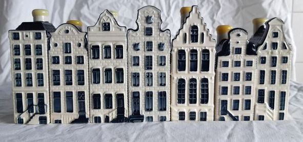 Bols - KLM houses, Seven KLM houses - Herengracht series - Earthenware, Delft Blue
