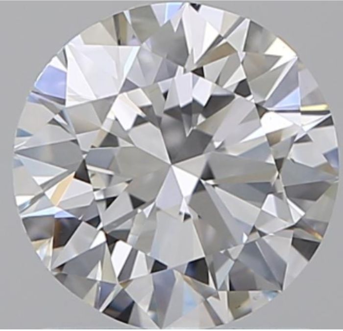 Diamond - 1.01 ct - Round - D (colourless) - VS2