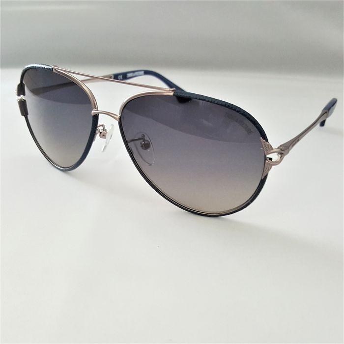 Zadig & Voltaire - Aviator Silver Blue Special Frame Gradient - Made in Italy - 2020 - New Sunglasses