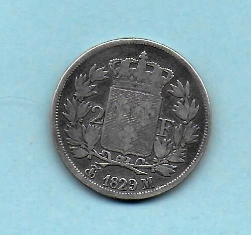 France - Charles X - 2 Francs 1829-M (Toulouse) - Silver
