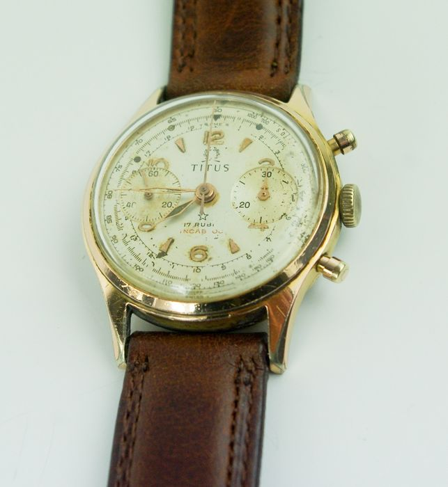 "Titus Geneve - Valjoux 92 Chronograh - ""NO RESERVE PRICE"" - Men - 1950-1959"