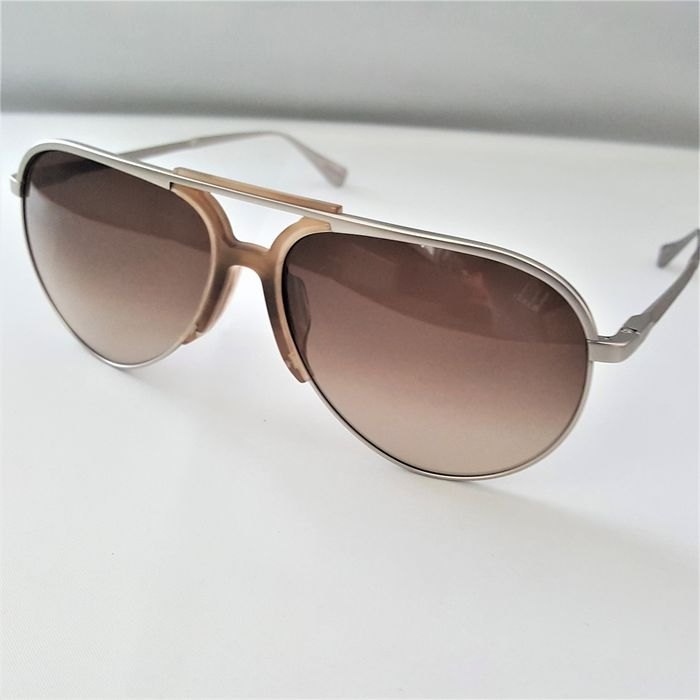 Alfred Dunhill - Aviator Titanium Gold Silver Gradient - New - Made in Italy - 2020 Sunglasses