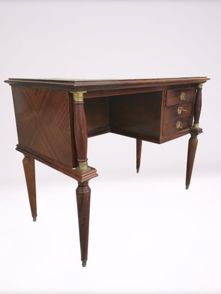 Writing table - Brass, Wood