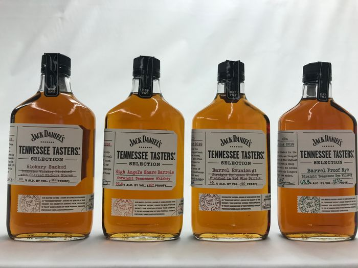 Jack Daniel's Collection of Tasters (Hickory Smoked - High Angel's Share - Barrel Reunion #1 - Barrel Proof Rye) - 375ml - 4 bottles
