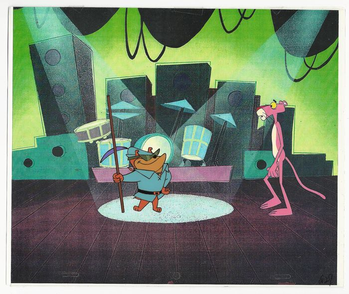 """The Pink Panther - """"Rob'n Hoodwinked"""" Production Cel and Animation Drawing - Eerste druk - (1993)"""