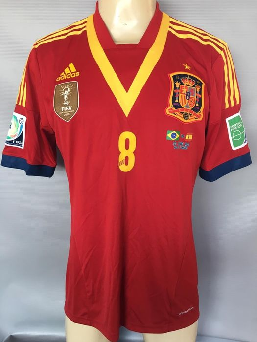 Spain National Team Xavi Game Issue Confederations Cup 2013 Final - Jersey