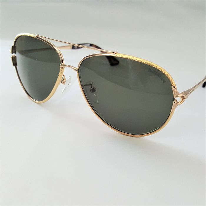 Zadig & Voltaire - Aviator Gold Green Special Frame - 2020 - New Sunglasses