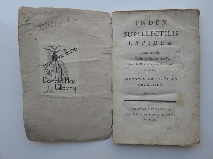 Johannes Fredericus Gronovius - Index supellectilis lapideæ, quam collegit, in classes & ordines digessit - 1750