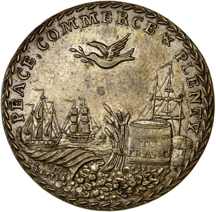 "United Kingdom - Médaille ""Preliminaries of Peace between Great Britain and France"" 1801 - 25mm - Bronze"