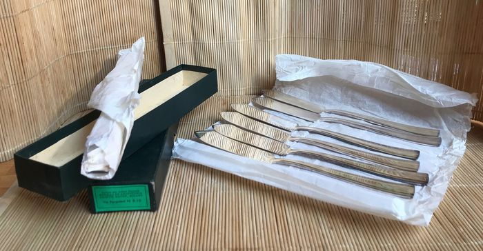 KRUPP- Milano - 2 original boxes containing each: 12 fish knives (24) - Silverplate
