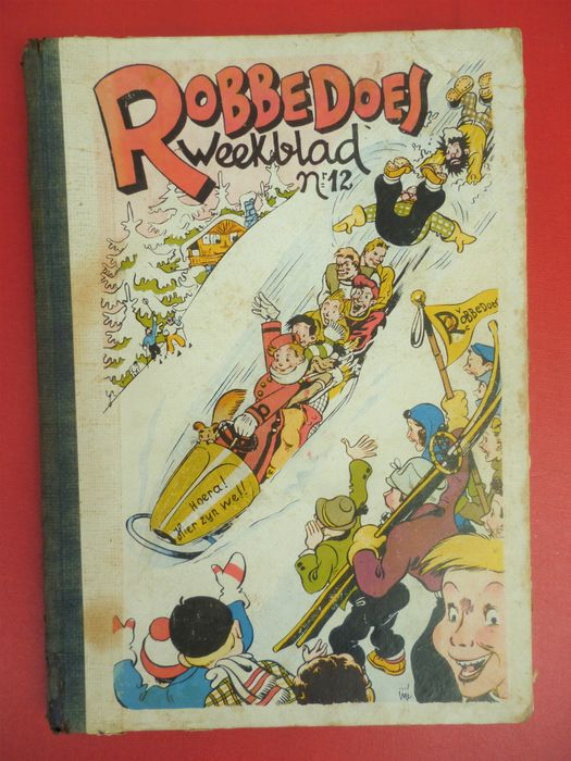 Robbedoes (magazine) - Robbedoes album nr 12 - Hardcover - First edition - (1943)
