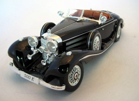 Premiere Edition - 1:18 - Mercedes-Benz 500K Typ Specialroadster 1936 Black