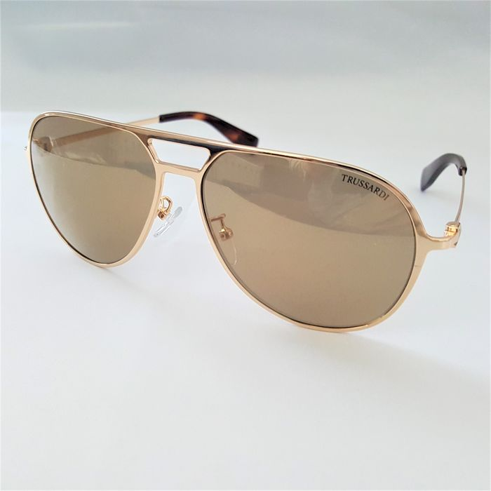 Trussardi - Aviator Gold Special Temples - Made in Italy - 2020 - New Sunglasses