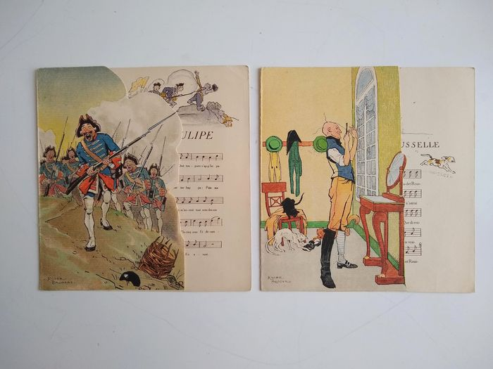 Roger Broders, H.Avelot - Lot with 40 menus - 1876/1955