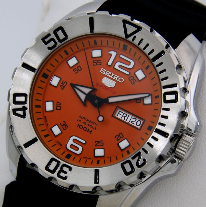 """Seiko - Automatic 24 Jewels """"Orange Dial"""" Made in Japan  - - """"NO RESERVE PRICE"""" - - Men - 2019"""