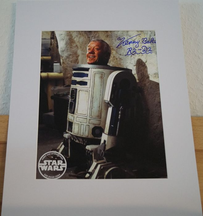 Star Wars - Kenny Baker (R2-D2)  - Autograph, Photo Signed with Coa