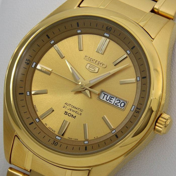 """Seiko - Automatic Made in Japan """"Gold Tone"""" - """"NO RESERVE PRICE"""" - Men - 2011-present"""