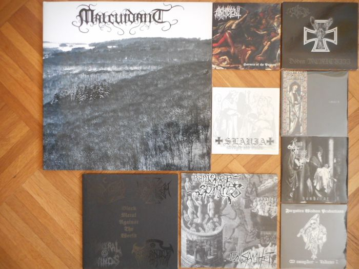 "Various Artists/Bands in Hardrock-Heavy Metal - Multiple artists - Lot Of LP, E.P, CDs Black And Death Metal - Multiple titles - 45 rpm Single, CD, CD's, EP-10""inch, LP Album - 1998/2010"