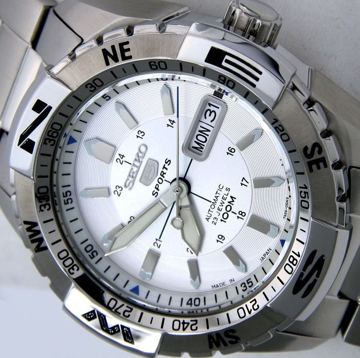 """Seiko - Automatic 23 Jewels 100M """"Ice Dial""""- Made in Japan - """"NO RESERVE PRICE"""" - Men - 2018"""